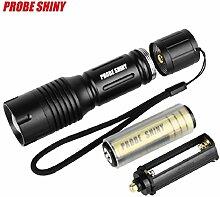 Sisit Taktische Polizei Taschenlampe, 5000LM Zoom