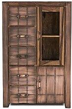 SIT-Möbel 2701-04 Brotschrank Sahara, 1 Glastür, 1 Holztür, 5 Schubladen, circa 90 x 45 x 140 cm