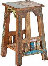 Sit Möbel Riverboat 9179-98 Blumenhocker mit 1 Ablageboden, recyceltes Altholz, bunt lackiert, 28 x 28 x 50 cm