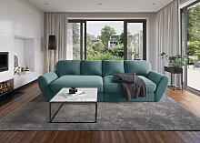 sit&more Big-Sofa Microfaser, 290 cm blau Big