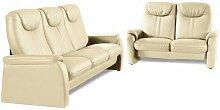 sit&more Polstergarnitur NaturLEDER® beige