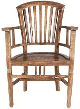 SIT Seadrift Teak Massivholz Stuhl mit Armlehne