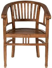 SIT Seadrift Teak Massivholz Stuhl mit Lehnen