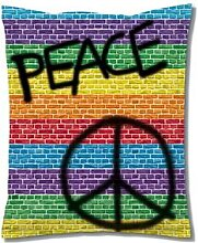 Sitting Bull Mega Bag Peace XXL Sitzsack 180x140 cm