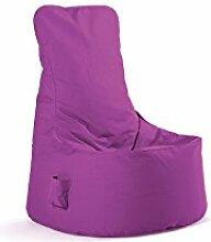 Sitting Bull Sitzsack für Kinderzimmer/Erwachsene oder Wohnzimmer 100% Polyester Sitzsack Chill Seat violett–Form Sitz Maße 85x 75x 100cm Moderne Komfortables und hochwertiges
