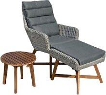 Sitz Garnitur Sitzgruppe Holz Garten Lounge Set