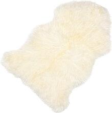 Sitzauflage Lammfell weiß, 5x95x60 cm