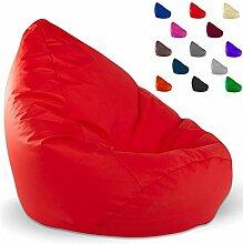 Sitzbag Sitzsack XXL Füllung Farbe Rot BeanBag