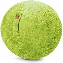 Sitzball Fluffy Webplüsch grün ca.65cm