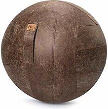 Sitzball Frankie Lederimitat braun ca.65cm