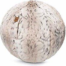Sitzball Skins Fellimitat Schneeluchs ca. 65cm Ø
