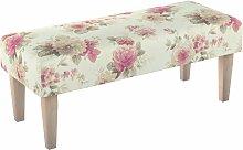 Sitzbank 100 cm, beige- rosa, 100x40x40cm, Mirella