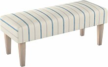 Sitzbank 100 cm, creme- blau, 100x40x40cm, Avinon