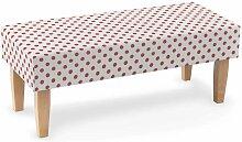 Sitzbank 100 cm, weiss- rosa, 100x40x40cm, Ashley