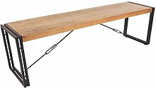 Sitzbank 160cm Massiv Holz Mango Metall Design