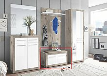 Sitzbank 2-trg Garderobe Kolibri von First Look Sandeiche / Weiß Hgl by Wohnorama