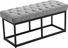 Sitzbank Amun B Stoff-grau-100 cm