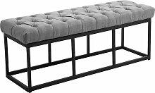 Sitzbank Amun B Stoff-grau-120 cm