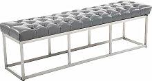 Sitzbank Amun E Kunstleder-grau-150 cm
