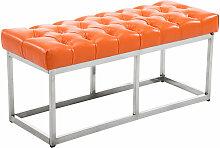 Sitzbank Amun E Kunstleder-orange-100 cm