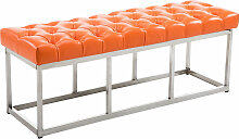 Sitzbank Amun E Kunstleder-orange-120 cm
