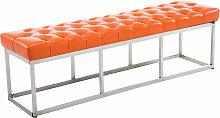 Sitzbank Amun E Kunstleder-orange-150 cm