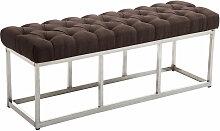 Sitzbank Amun E Stoff-braun-120 cm