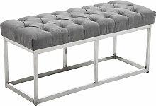 Sitzbank Amun E Stoff-grau-100 cm