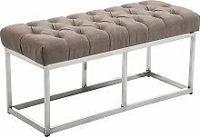 Sitzbank Amun E Stoff-taupe-100 cm