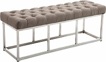 Sitzbank Amun E Stoff-taupe-120 cm