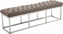 Sitzbank Amun E Stoff-taupe-150 cm