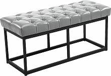 Sitzbank Amun Kunstleder-grau-100 cm