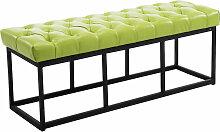 Sitzbank Amun Kunstleder-grün-120 cm