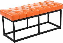 Sitzbank Amun Kunstleder-orange-100 cm