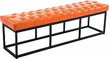 Sitzbank Amun Kunstleder-orange-150 cm