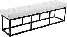 Sitzbank Amun Kunstleder-weiß-150 cm