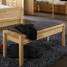 Sitzbank aus Eiche Massivholz Braun