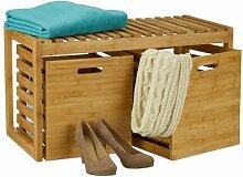 Sitzbank aus Holz mit Stauraum Hallie Natur Pur