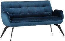 SITZBANK , Blau , Uni , 2-Sitzer , 165x94x70 cm ,