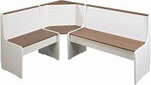 Sitzbank Boxborough mit Stauraum aus Holz