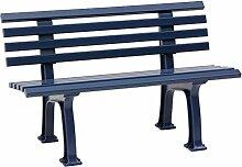 Sitzbank / Gartenbank 2-Sitzer: Ibiza, Länge 120cm, blau (hochwertiger Kunststoff, Parkbank Made in Germany)
