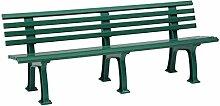 Sitzbank / Gartenbank 4-Sitzer: Juist, Länge 200cm, grün (hochwertiger Kunststoff, Parkbank Made in Germany)