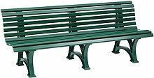 Sitzbank / Gartenbank 4er Design: Borkum, Länge 200cm, grün (hochwertiger Kunststoff, Parkbank Made in Germany)