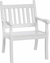 Sitzbank / Gartenbank / Sessel 1-Sitzer: Hohenzollern, Länge 68cm, weiß (hochwertiger Kunststoff, Parkbank Made in Germany)