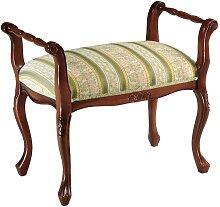 Sitzbank im italienischen Design Grün Bunt Stoff