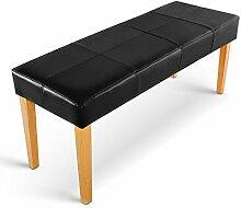Sitzbank Lederimitat schwarz ca 110 cm