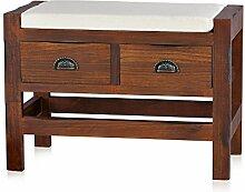 Sitzbank mit 2 Schubladen inkl. Sitzpolster 63,2 cm x 33,5 cm x 45,1 cm (B x T x H)