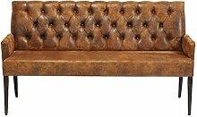 Sitzbank mit Armlehnen Econo Buttons Vintage