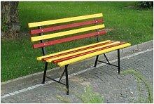 Sitzbank | Mit Rückenlehne | Holz | Länge 1400