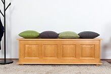 Sitzbank mit Stauraum Kiefer massiv Vollholz